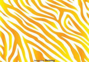 Gyllene gula zebra print bakgrund vektor