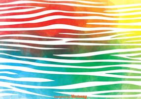 Färgglada Zebra Print Vector