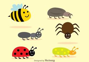 Set Insektenvektoren vektor