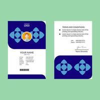 blaue geometrische Doppelform id