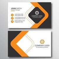 professionelle Visitenkarte mit orangefarbenen und grauen Diamanten vektor
