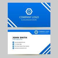 Visitenkarte mit blauem und weißem Diagonalstreifen