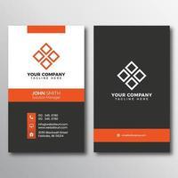 vertikala visitkort med orange gränser