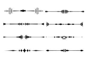 Fancy line prydnad vektorer