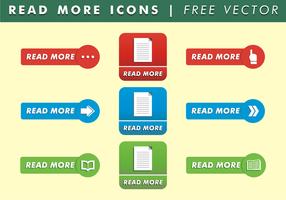Lesen Sie mehr Medien Icons Free Vector