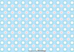 Blå cirkel Girly Pattern Vector