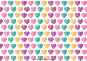 Platt kärlek flickaktigt mönster vektor