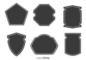 Verschiedene Abzeichenformen vektor