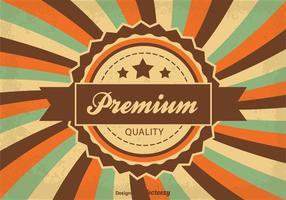 Garantierte Qualität Hintergrund Illustration vektor