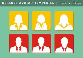 Default Avatar Vorlagen Free Vector