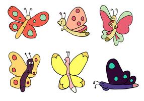 Cartoon Schmetterling Vektor Set