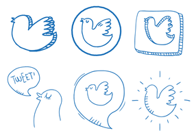Twitter fågel vektor set