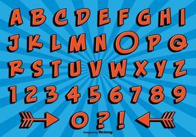 Comic-Stil Alphabet Set