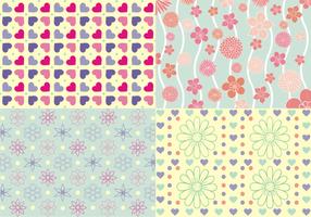 Girly Patterns kostenloser Vektor