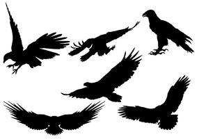 Gratis Eagle Silhouette Vector