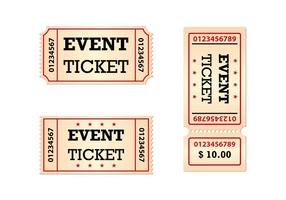 Kostenlose Tickets Set Vector