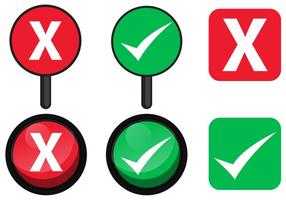 Ja eller Nej teckenvektorer