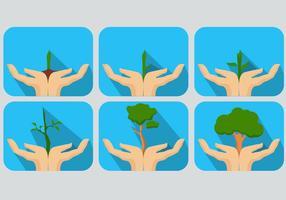 Halten Sie grüne Keimungsvektoren