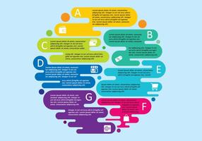 Bunter Infografik-Vektor