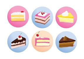 Cake Slice Isolerade Vektorer