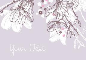 Magnolien Hintergrund Design vektor