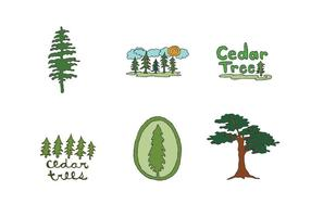 Gratis Cedar Tree Vector Series