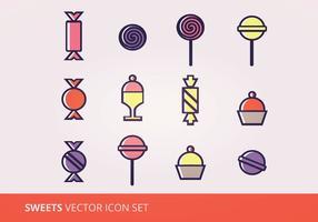 Süßigkeiten Vector Icon Set