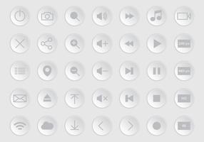 Graue Media Player-Tasten vektor