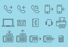 Büro-Smartphone-Vektoren vektor