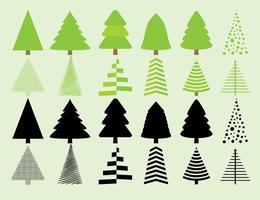 Julgran siluett vektorer