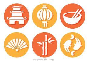 Kinesisk kultur cirkel vektor