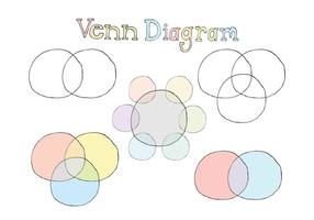Kostenlose Venn Diagramm Vektor Serie