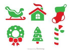 Weihnachten Duo Tone Vector Icons