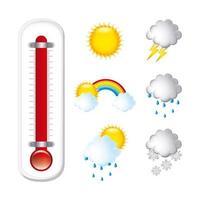 Wetter Icon Pack vektor