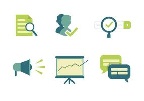 Marketing-Vektor-Icons vektor