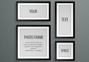 Realistische Fotorahmen Vektoren