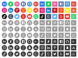 Gratis sociala medier ikoner vektor