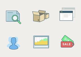 Vektor-Shop-Icon-Set