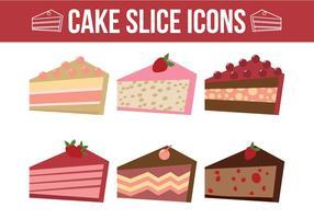 Kuchen Scheiben Vektoren