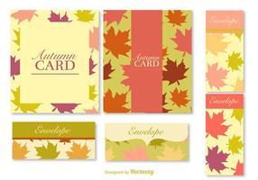 Herbstpostkarten und Banner