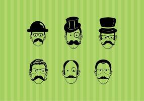 Kreativa män ansikten