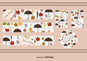 Fall Leaf Banner Vektoren