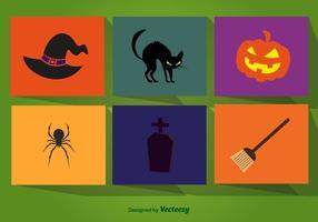 Halloween tecknade element