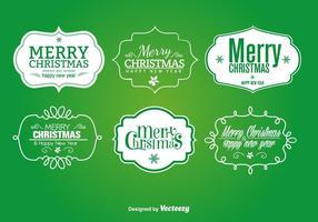 Weihnachtsschilder und Etiketten vektor