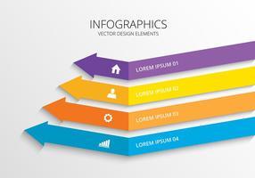 Infografischer 3D-Design-Vektor vektor