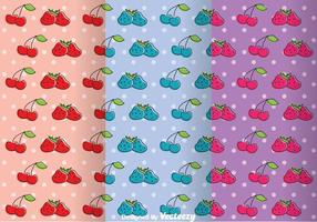 Frukter Girly Pattern Vectors