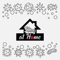 zu Hause bleiben Viruspräventionsplakat