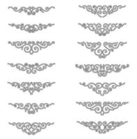 Satz Vintage dekorative Trennwände vektor
