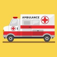 platt ambulansmedicinskt fordon vektor
