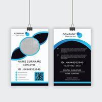 blaue und blaue Akzent-ID-Vorlage